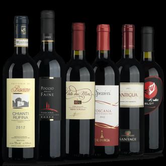 Rotwein Probierpaket Italien