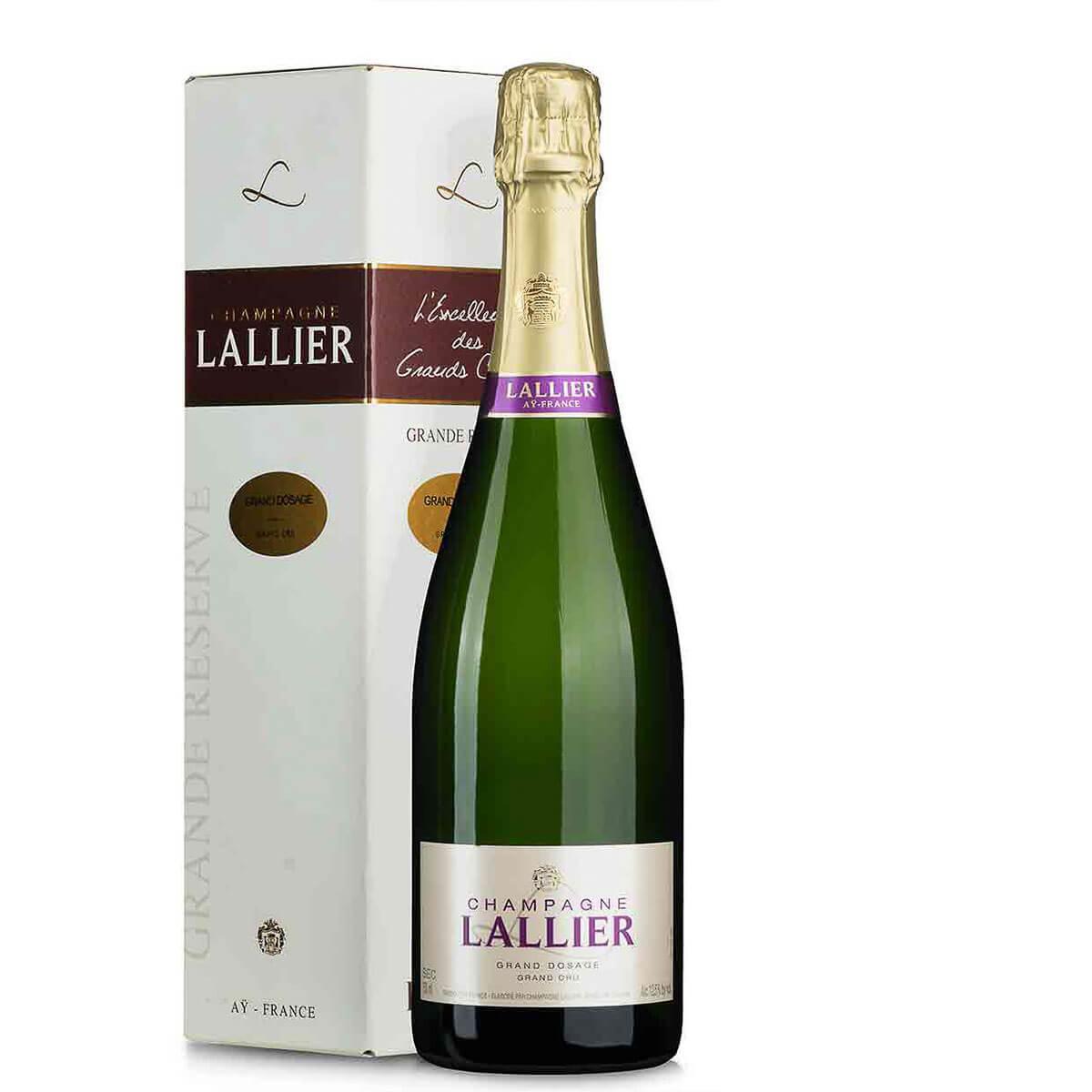 Lallier Champagner Grand Dosage Grand Cru im Geschenkkarton