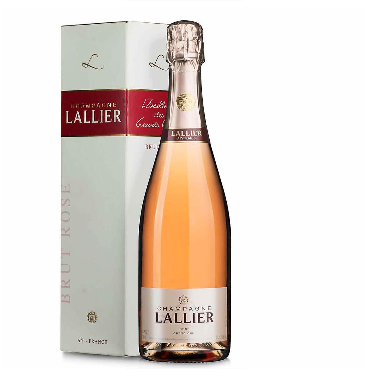 Lallier Champagner Rose Grand Cru im Geschenkkarton